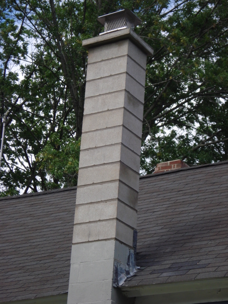 Block Chimney After
