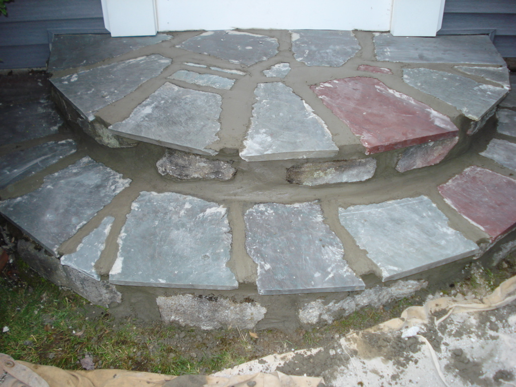 Flagstone Step Repair - After